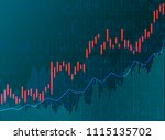 business chart candles of the... | Shutterstock .eps vector #1115135702