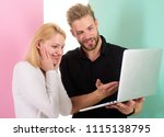 amazing project. man presenting ...   Shutterstock . vector #1115138795