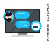 cute smiling chat bot is... | Shutterstock .eps vector #1115139695