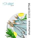 sprat sketch vector fish icon.... | Shutterstock .eps vector #1115139758
