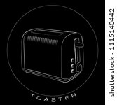 icon  vector  toaster  hot... | Shutterstock .eps vector #1115140442