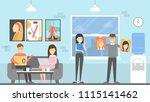 editorial office interior....   Shutterstock . vector #1115141462