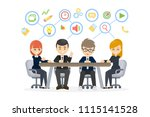 people at work. business people ... | Shutterstock . vector #1115141528