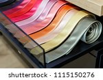 set of different color skinny... | Shutterstock . vector #1115150276