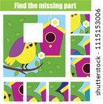 puzzle for toddlers. find the... | Shutterstock .eps vector #1115153006