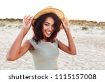 close up of smiling young... | Shutterstock . vector #1115157008