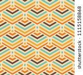 abstract geometric retro... | Shutterstock .eps vector #1115158868