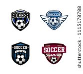 set of soccer or football club... | Shutterstock .eps vector #1115178788