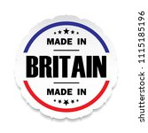 made in britain flag button... | Shutterstock . vector #1115185196