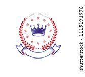 royal crown emblem. heraldic... | Shutterstock .eps vector #1115191976