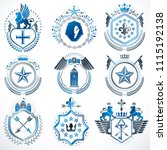 collection of vector heraldic... | Shutterstock .eps vector #1115192138