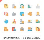 simple set package delivery... | Shutterstock .eps vector #1115196002