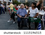 socialist party supporters... | Shutterstock . vector #1115196515