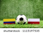 ball with colombia vs poland ... | Shutterstock . vector #1115197535