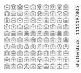 big set of business bag icons ... | Shutterstock .eps vector #1115197805
