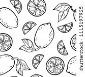 beautiful black and white... | Shutterstock .eps vector #1115197925