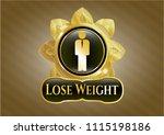 gold shiny emb golden emblem... | Shutterstock .eps vector #1115198186