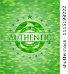 authentic green authentic green ... | Shutterstock .eps vector #1115198222