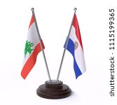 lebanon and paraguay  two table ... | Shutterstock . vector #1115199365
