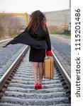 woman photo traveling in the... | Shutterstock . vector #1115201486