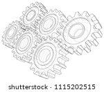 cogs and gears. vector... | Shutterstock .eps vector #1115202515