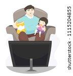 illustration of a kid girl... | Shutterstock .eps vector #1115204855