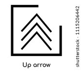 up arrow icon vector isolated... | Shutterstock .eps vector #1115206442