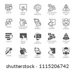 set of online service buttons.... | Shutterstock .eps vector #1115206742
