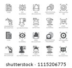 set of biometric buttons. 10... | Shutterstock .eps vector #1115206775