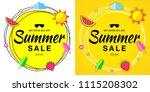 summer sale template banners.... | Shutterstock . vector #1115208302