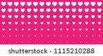 halftone pink hearts gradient... | Shutterstock . vector #1115210288