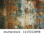 faded paint on a rusty texture  ... | Shutterstock . vector #1115212898