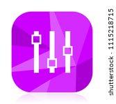 slider violet square vector web ...