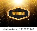 retro light banner. vector... | Shutterstock .eps vector #1115221142
