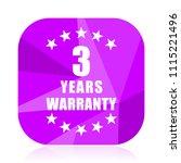 warranty guarantee 3 year...   Shutterstock .eps vector #1115221496