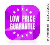 low price guarantee violet...   Shutterstock .eps vector #1115221502
