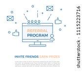 referral program  affiliate... | Shutterstock .eps vector #1115223716