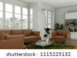 modern interior design living... | Shutterstock . vector #1115225132