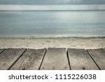 Wooden Pier Beach With Blurred...