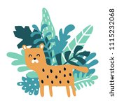 vector illustration  cute... | Shutterstock .eps vector #1115232068