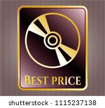 shiny badge with cd or dvd... | Shutterstock .eps vector #1115237138