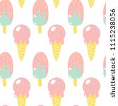ice cream. seamless pattern. | Shutterstock .eps vector #1115238056