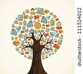 hand drawn social network icons ...   Shutterstock . vector #111524012