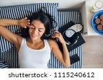 portrait of young attractive... | Shutterstock . vector #1115240612