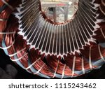 Electric motor stator with...