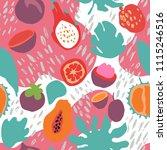 minimal summer trendy vector... | Shutterstock .eps vector #1115246516