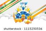 vector illustration of 15th... | Shutterstock .eps vector #1115250536