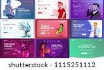 main web page set design.... | Shutterstock . vector #1115251112