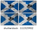 collage of scottish flag with...