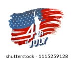 usa national flag vector paint. ... | Shutterstock .eps vector #1115259128